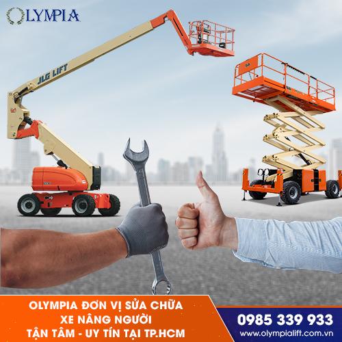 Olympia đơn vị cung cấp dịch vụ sửa chữa xe nâng người tại TP.HCM