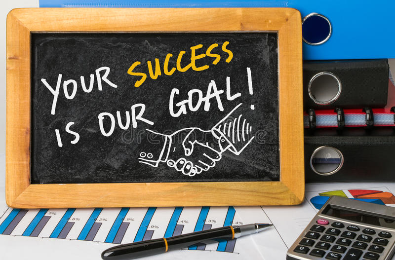your-success-our-goal-handwritten-blackboard-51545874