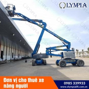 Olympia - đơn vị cho thuê xe nâng người genie được nhiều khách hàng lựa chọn.