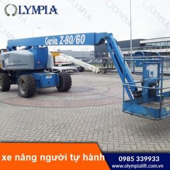 Xe nâng người làm việc trên cao - thiết bị nâng hạ được ứng dụng rộng rãi hiện nay