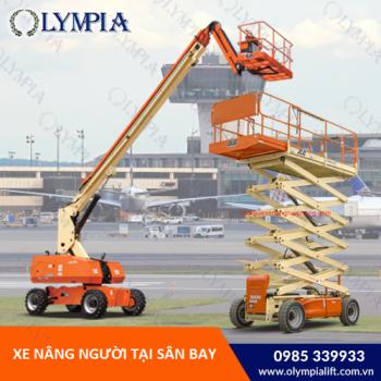 Xe nâng là thiết bị đồng hành đáng tin cậy tại sân bay